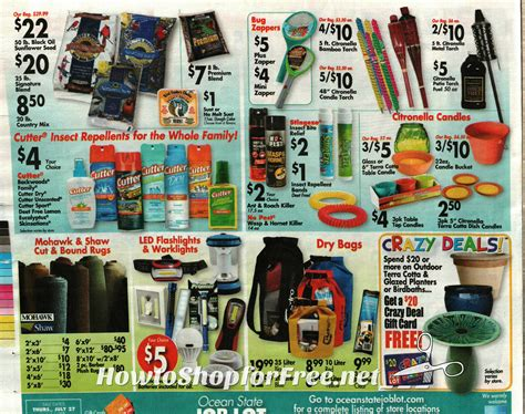 Ocean State Job Lot Crazy Deals Gift Card - ocean state job lot ad scan how to shop for free with kathy spencer