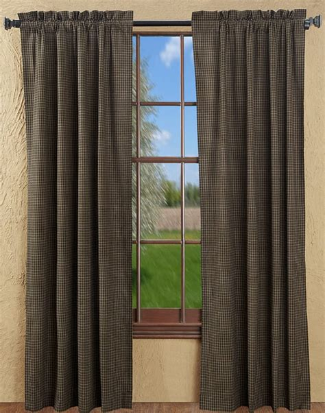checked curtain panels kettle grove plaid curtain panels