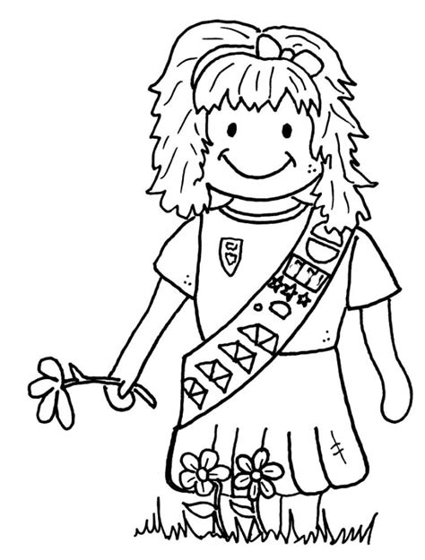 Girl Scouts Coloring Pages Az Coloring Pages Scout Brownie Coloring Pages