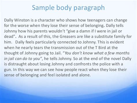 Essay Topics For The Outsiders by The Outsiders Essay Power Point Cm