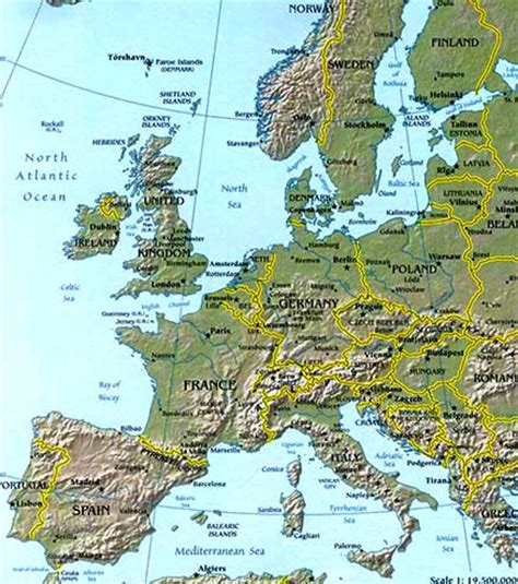 geography of europe map europe map map of europe facts geography history of