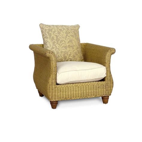 armchair pads wicker armchair with natural seat pads city furniture hire