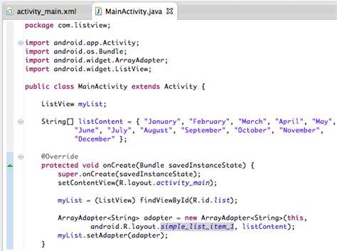 cara membuat file format xml cara membuat listview di android
