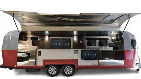 a decked out airstream takes the home automation show on