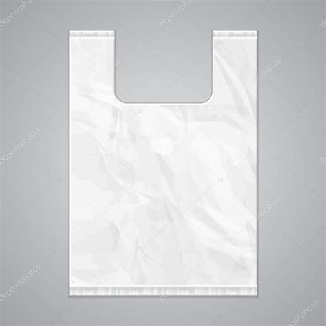template plastic disposable plastic bag package grayscale template stock