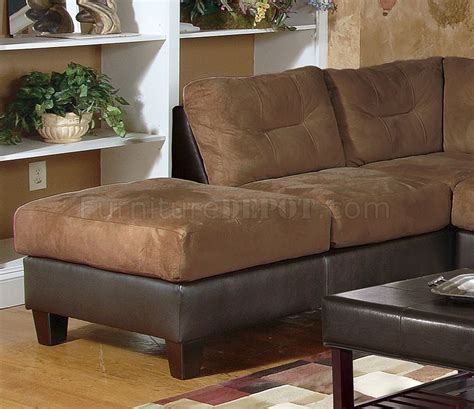 two toned mocha modern sectional sofa w tufted seats backs