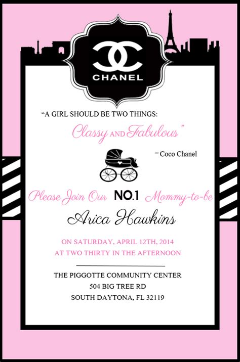 1000 Images About Chanel Themed Party On Pinterest Chanel Party Coco Chanel And Chanel Chanel Invitation Template