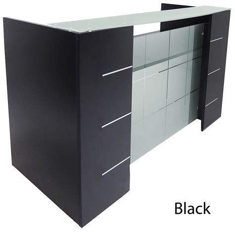 Glass Front Reception Desk In 5 Colors Reception Desk Glass