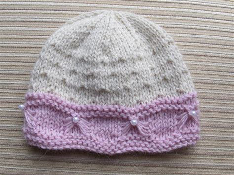 baby hat knitting pattern baby hat with butterfly stitch trim by knittinkitty craftsy