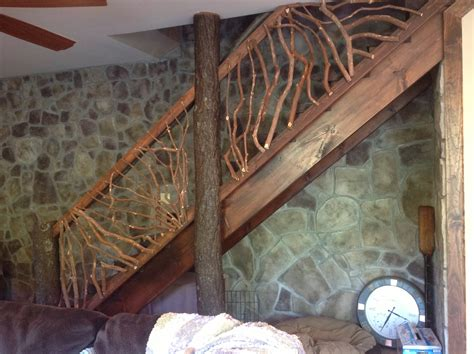wooden stair banisters and railings rustic handrails for the home options and materials for railings