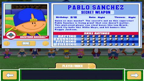 pablo sanchez backyard sports let s play backyard baseball 2003 intro meet the
