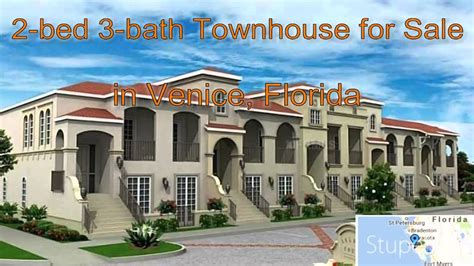 3 Bedroom Townhouse 2 bed 3 bath townhouse for sale in venice florida on