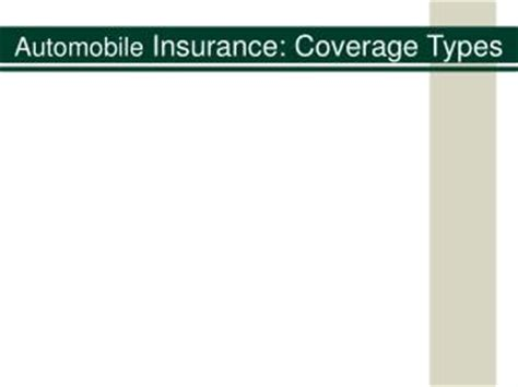 Car Insurance Types Explained Uk by Ppt Car Insurance Coverage Types Explained In A