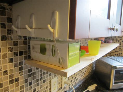 Command Hook Shelf by Diy Hanging Kitchen Shelf The Elm