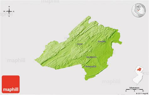new jersey physical map physical 3d map of morris county cropped outside