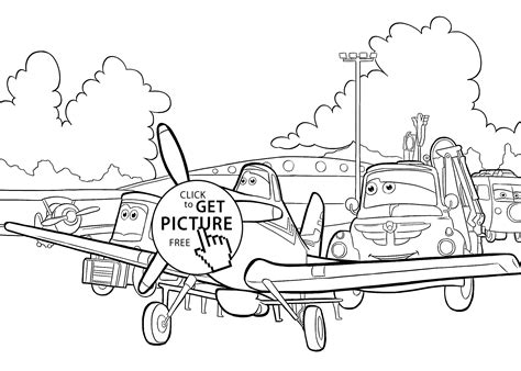 Plane Dusty With Friends Coloring Pages For Kids Dusty Coloring Pages