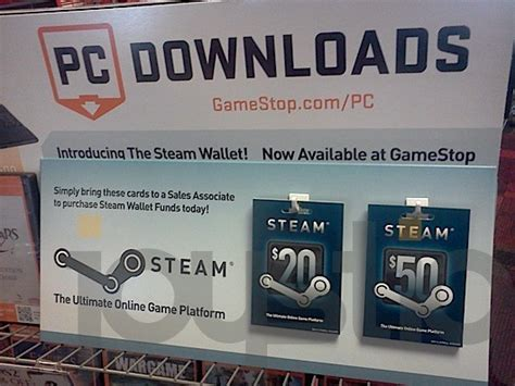 What Stores Sell Steam Gift Cards - steam wallet store displays arrive at gamestop update it s official