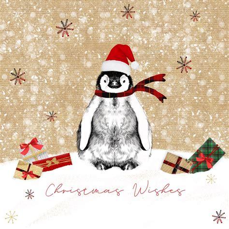 christmas penguin small christmas card pack christmas card printers