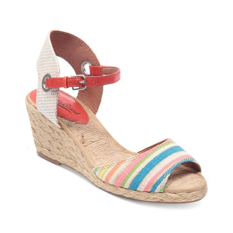 lucky brand kyndra demi platform wedge sandals in pink
