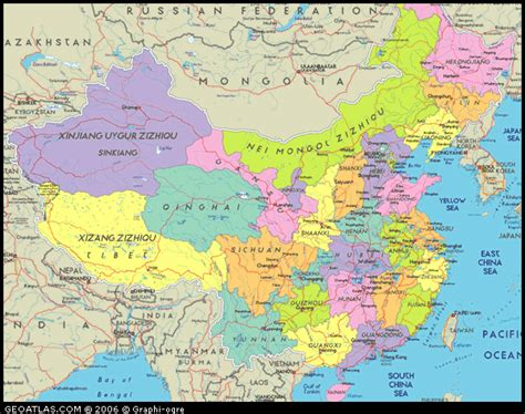 political map of china with cities political map of china china atlas