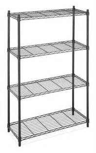 wire steel shelving black chrome storage rack 4 tier organizer kitchen