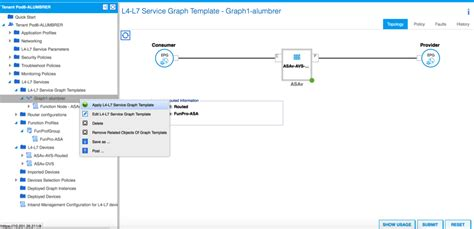 apply templates mode asav in goto l3 mode with the use of avs aci 1 2 x