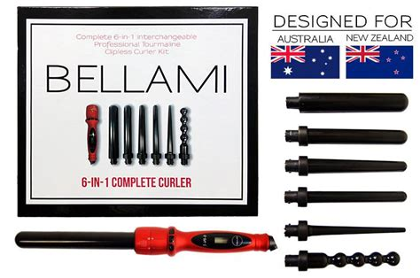 bellami 6 in 1 reviews bellami 6 in 1 complete curler set aus nz by clip in