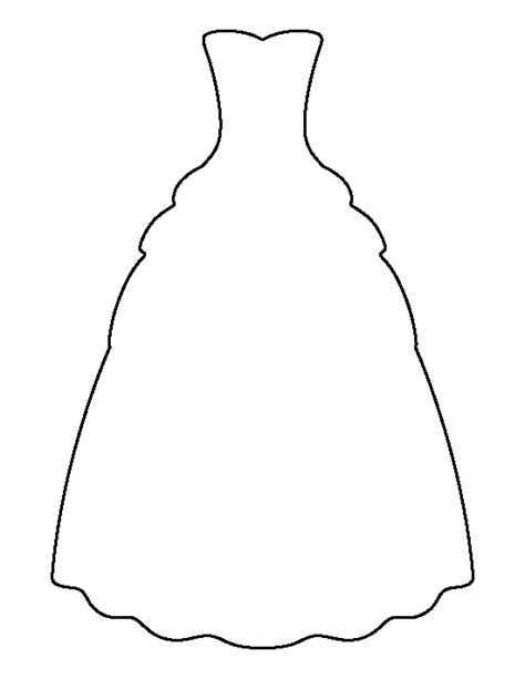 Wedding Dress Outline by Gown Pattern Use The Printable Outline For Crafts