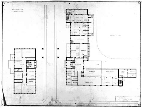 bauhaus floor plan 1925 1926 ground floor of bauhaus building in dessau