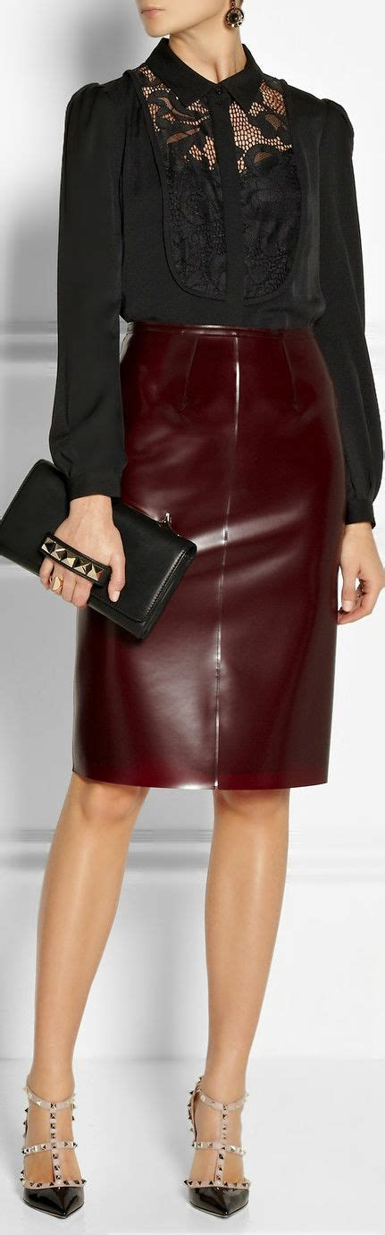 wine colored skirt burberry innovates with a blood wine colored