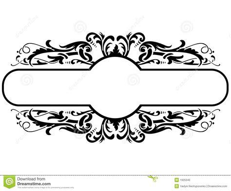 frame design in vector black frame floral decoration vector illustration 1925340
