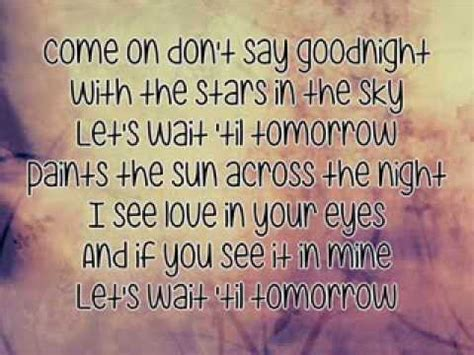 bullet for my say goodnight lyrics chelle don t say goodnight lyrics