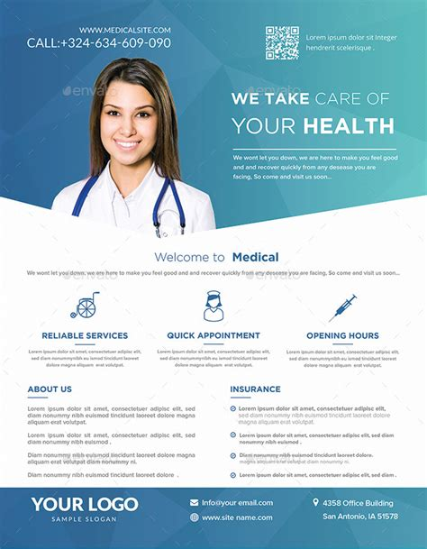 Medical Flyers Templates By Hazemtawfik Graphicriver Health Flyer Template