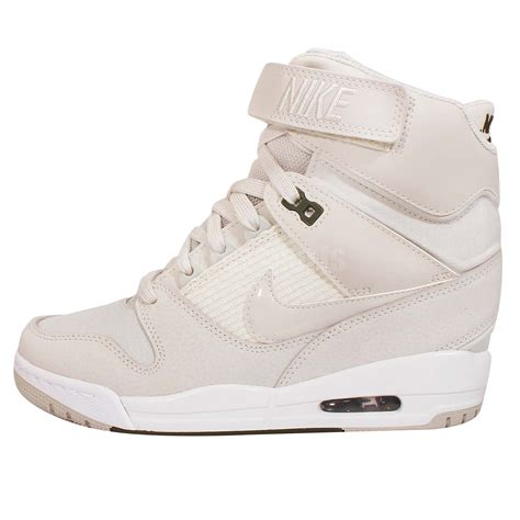 Nike Air Wedges White wmns nike air revolution sky hi light bone grey white