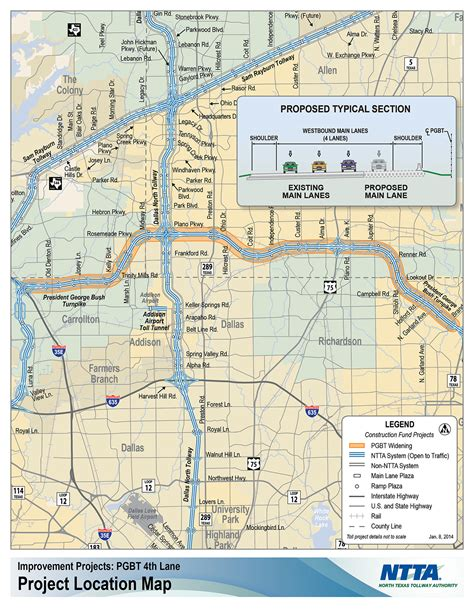 texas tollway authority map fourth coming to portions of bush turnpike in 2016 driving texas