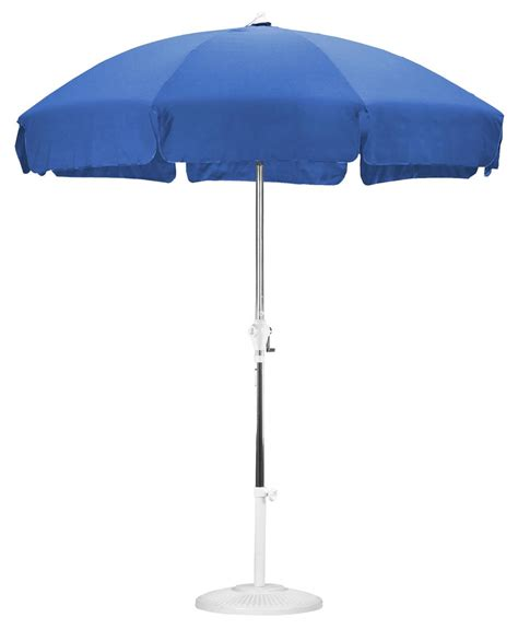 Blue Patio Umbrella 7 5 Royal Blue Patio Umbrella With Push Tilt Feature