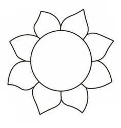 sunflower printable template flower template free printable search applique