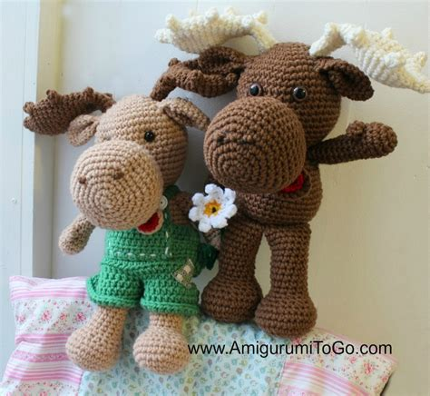 adorable crochet moose pattern allfreecrochetcom