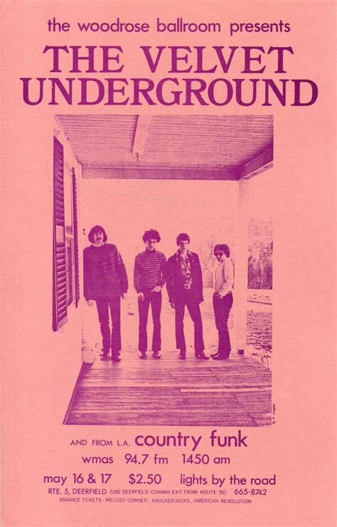 underground corrosion classic reprint books velvet underground woodrose ballroom 1969 photo handbill