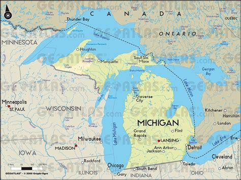 michigan canada map michigan canada map michigan map