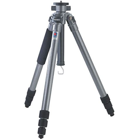 Tripod Stand 4 Section Aluminum Legs With Brace Silverblack benro a 258n6 aluminum tripod legs 451 258 b h photo