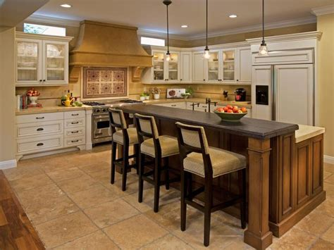 eat on kitchen island traditional eat in kitchen with soothing color palette hgtv