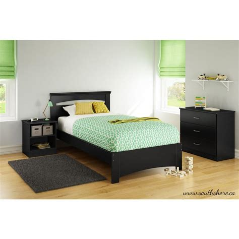 south shore bed frame south shore libra black bed frame 3870189 the