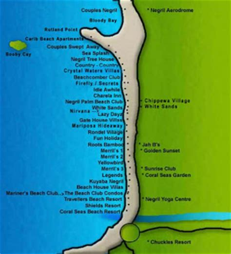 Couples Resorts Locations Jes And Bob S Wedding Map Of Resort Locations In Negril
