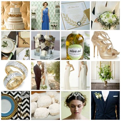 grecian rhapsody a inspired wedding theme moodboard and ideas