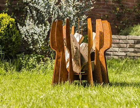 how to find flint in your backyard the flint cor ten brings modern dutch design to your backyard blaze werd com