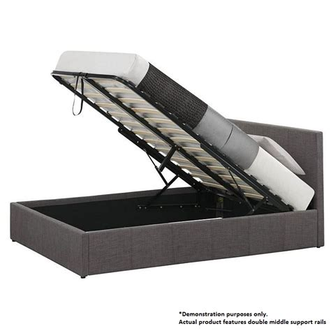 lift storage bed frame king size fabric gas lift storage bed frame grey buy king size bed frame