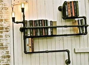 diy idea make a steunky pipe book shelf curbly