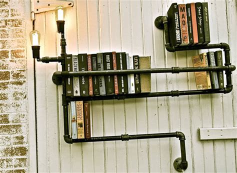 diy idea make a steunky pipe book shelf curbly
