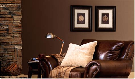 Warm Brown Living Room by Saffron And Silk Color Your World